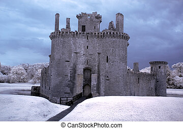 Ruins of Caerlaverock castle, Scotland, UK