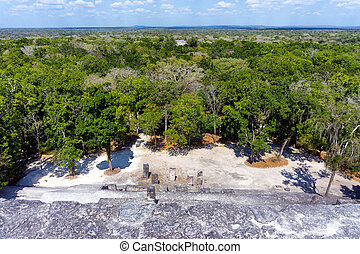 Ruins of Calakmul in Campeche, Mexico
