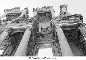 Celsus Library - Ruins of Celsus Library in ancient Greek...