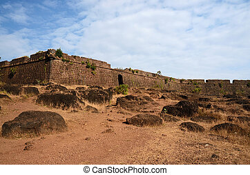 Ruins of Chapora fort,Goa,India