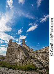 Ruins of Citadel of Berat, Albania, spring day