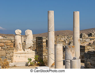Ruins of Cleopatra house, Delos, Greece