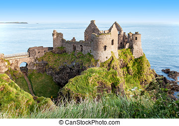 Ruins of Dunluce Castle in Northern Ireland - Ruins of ...