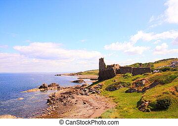 Ruins of Dunure Castle, Ayrshire, Scotland