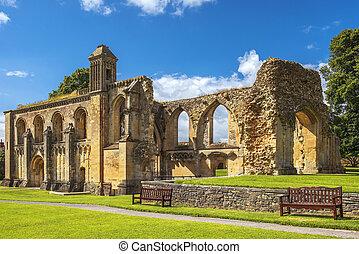 ruins of Glastonbury Abbey, was a monastery in Glastonbury, Somerset, England