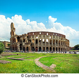 Ruins of great colosseum