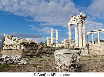 Ruins of Greek Pergamon in Turkey