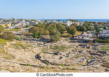 Ruins of Hellenic Theater in Paphos