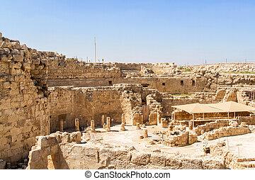 Ruins of Herodium, palace fortress in Israel - ...