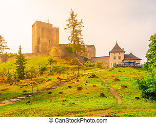 Ruins of Landstejn Castle in Czech Canada, Czechia