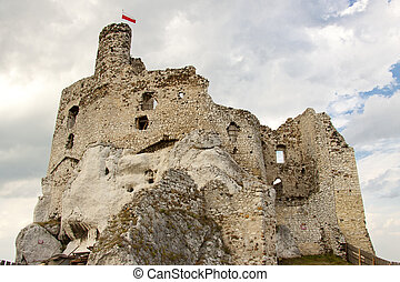 Ruins of Mirow Castle.