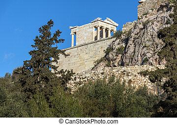 Monumental gateway Propylaea in the Acropolis of Athens
