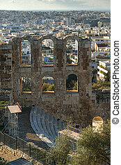 Odeon of Herodes Atticus in the Acropolis of Athens - Ruins...