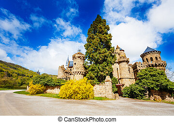 Ruins of old Lion castle walls in Bergpark - Ruins of old...