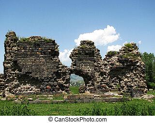 Ruins of old monastery in Armenia