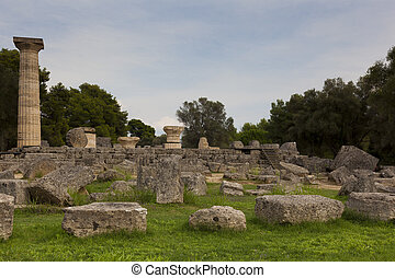 Ruins of Olympia, Peloponnese, Greece