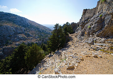 Ruins of Palio Pyli castle on Kos island, Greece - Ruins of ...