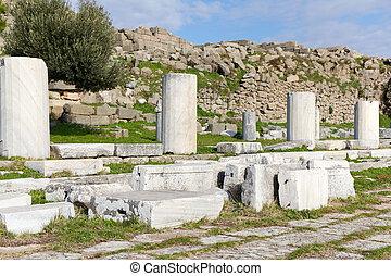 Ruins of Pergamon in Turkey