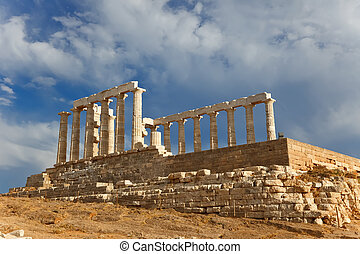 Ruins of Poseidon temple, Cape Sounion, Greece