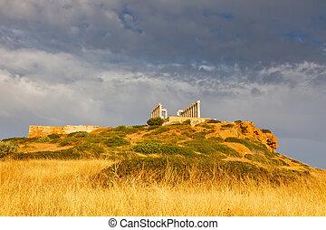 Ruins of Poseidon temple, Greece