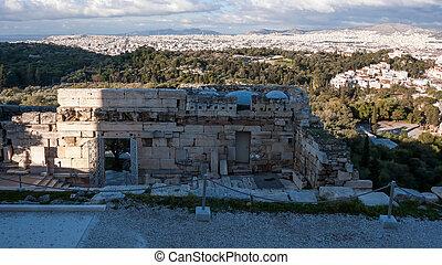Propylaea -monumental gateway in the Acropolis of Athens
