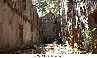 Ruins of Redi fort in Khalchikar at summer day