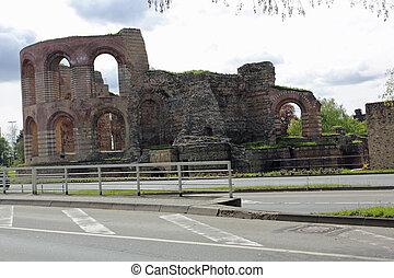 ruins of  Roman baths in Trier