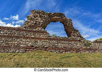 Ruins of Roman fortifications in Diocletianopolis, town of Hisarya, Plovdiv Region,