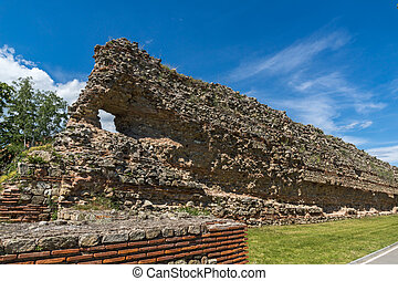 Ruins of Roman fortifications in Diocletianopolis, town of Hisarya, Plovdiv Region