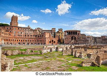 Ruins of Roman Forum in Rome
