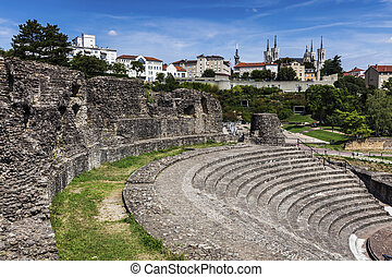 Ruins of Roman Theatre in Lyon
