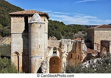 Ruins of San Pedro de Arlanza in the province of Burgos, Spain
