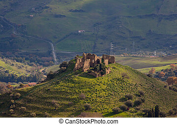"""Ruins of St. Michael the Archangel monastery in Troina, """"The Elder"""" , Sicily - Italy"""