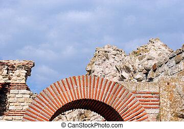 Ruins of Stara Mitropolia Basilica in Nessebar