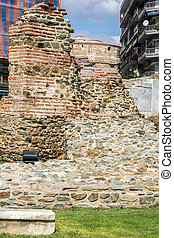 Ruins of Telli Kap? in the center of city of Thessaloniki, ...