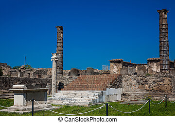Ruins of the ancient Temple of Apollo in Pompeii