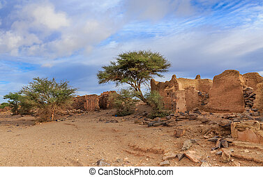 ruins of the ancient town, Morocco