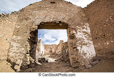 Ruins of the ancient village of San Antonio de Lipez in Bolivia