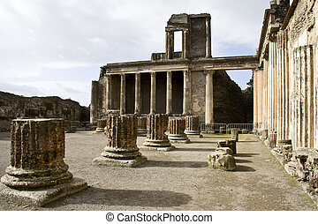 Ruins of the basilica, Pompeii.