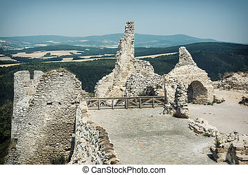 Cachtice castle, Slovak republic, central Europe - Ruins of...