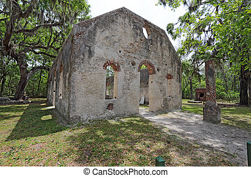Ruins of the Chapel of Ease near Beaufort, South Carolina