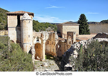 Ruins of the Church of San Pedro de Arlanza in the province of Burgos, Spain