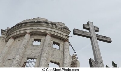 Ruins of the Church of the Holy Trinity in the village of...