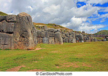 Ruins of the famous Inca civilization in Cusco, Peru,...