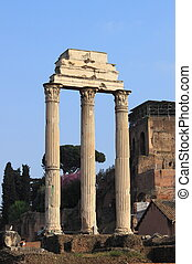 Ruins of the Giulia Basilica in the Roman Forum. Rome, Italy