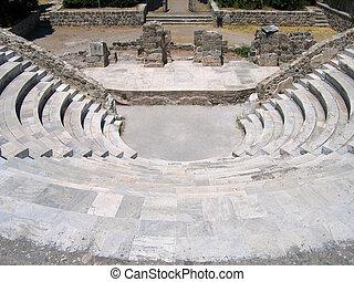Ruins of the Greek Theater. Island of Kos, Greece
