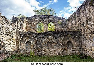 Ruins of the Ikalto Academy next to the Ikalto monastery....