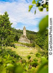 Ruins of the Monastic site in Glendalough