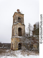 ruins of the old bell tower