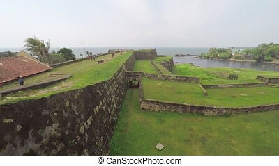 Ruins of the Old Dutch Fort in Galle, Sri Lanka - Enormous, ...